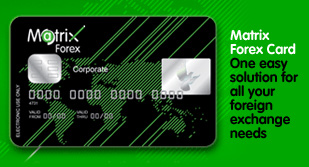 Matrix forex card